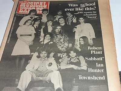 Nme Ronson  Jul 1974 New Musical Express The Who Plant Hunter Vintage Magazine