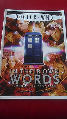 Doctor Who Magazine Special Edition In Their Own Words Volume 6 1997-2009