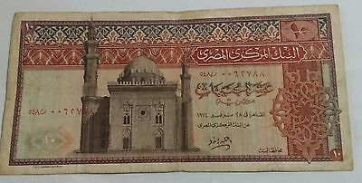 Egypt old Banknote 10 Pounds 1974 uncirculated very fine