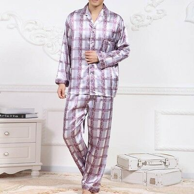New Men Sleepwear Autumn Nightwear Casual Loose Homewear Long Sleeve Pajamas Set