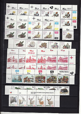 South Africa - 1980/90S Definitives In Blocks/strips Unmounted Mint