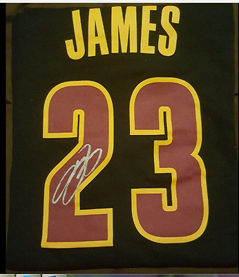 LeBron James Autographed Shirt- true collector item