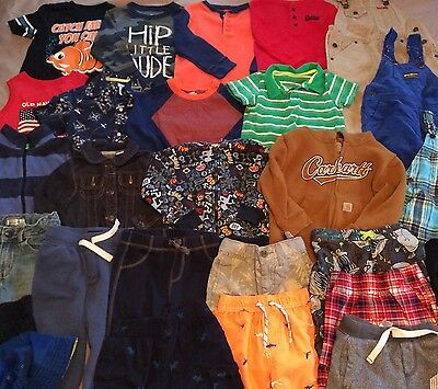 Excellent 30 Piece Lot Of Baby Boy Toddler Clothes 2T 3T