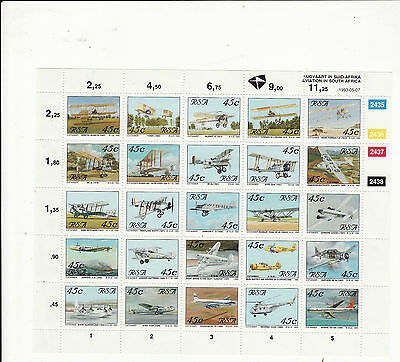 South Africa - 1993 Aviation In South Africa Sheetlet Unmounted Mint