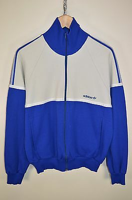 vtg 70s ADIDAS OLDSCHOOL CASUALS RETRO TRACK JACKET TRACKSUIT TOP SIZE LARGE