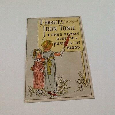 Dr. Harter's The Original Iron Tonic Vintage Trade Card