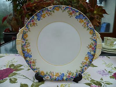 Pretty Vintage Aynsley English China Cake or Sandwich Plate Mixed Flowers 3914