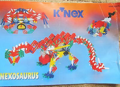 K'NEX Robo-Mouse, Crab and K'nexosaurus with Power Pack, 262 Pieces, 1996, VGC