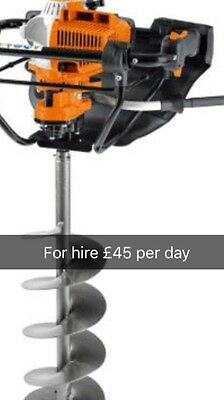 Stihl Petrol Auger Available For Hire , Cheap Day Rates