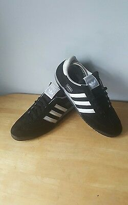 Adidas dragon trainers black with white detailing suede uk size 9