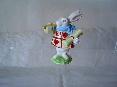 Vintage Ceramic 1979 'a company of friends' White Rabbit of Hearts Trumpeteer