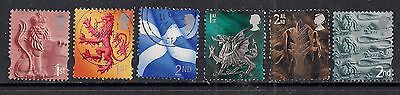 GB 1999 - 2002 QE2 1st & 2nd  6 x Various regional stamps. ( 380 )