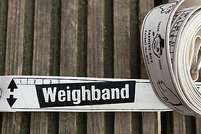 """Vintage Farmer's Boy Brand """"Weightband"""" For Measuring Weight of Pigs and Cattle"""