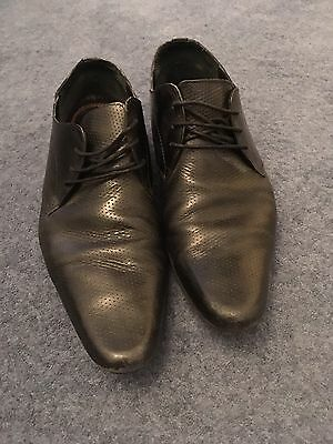 Ben Sherman Mens Black Leather shoes smart casual