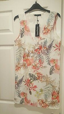 Floral summer dress, new with tags, size 12