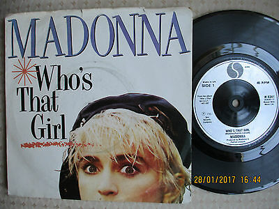 """Madonna - Who's That Girl - 7"""" 1986 - Vg"""