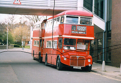 Bus Photo Of A Pair Of London Transport Routemasters,photograph Picture,model Ex