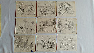 1933 Boy Scouts World Jamboree letter Paper, decorated with drawings of LaJos M