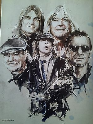 AC/DC 8 Page Article from British Magazine with Artwork Angus Young
