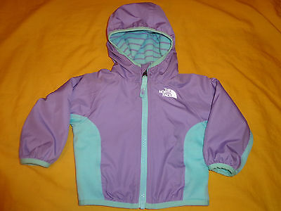 The North Face Baby Girl Jacket Reversible 3-6 Months Multicolor