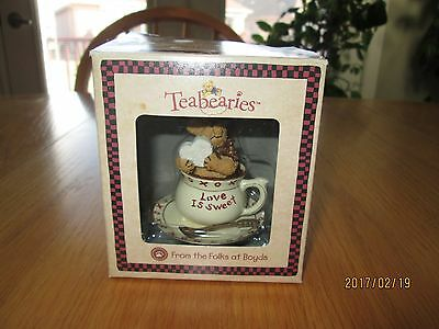 """The Boyds Collection """"luvy Teabearie"""" Bear Style #24303"""