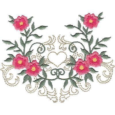 OESD Embroidery Machine Designs CD FLOURISHING ROSE