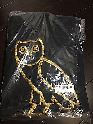 OVO Owl Logo Hoodie Black/Gold XXL Octobers Very Own - Authentic Embroidered