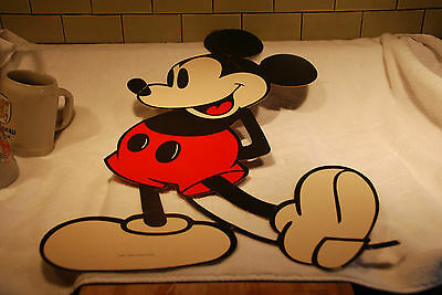 Rare! Vtg Large Disney Mickey Cardboard Cut Out