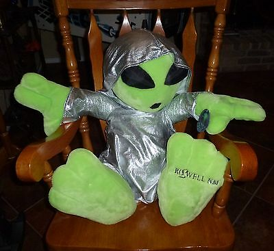 "Large 30"" Alien Plush From Area 51 Roswell N.m. With A Hoodie From Kellytoy"