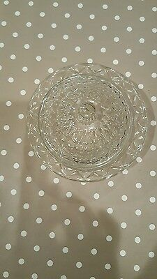 Vintage glass candy dish with lid