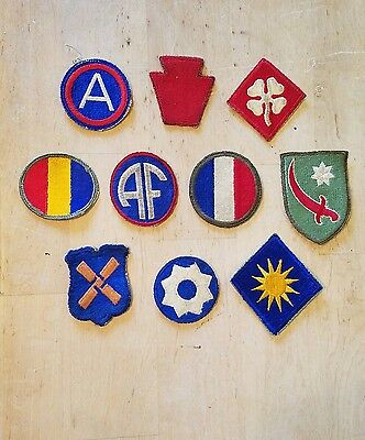 WW2 lot of 10 patches group 5