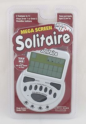 New Other Mega Screen Klondike Solitaire Electronic Handheld Game Draw 1 Draw 3