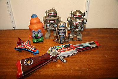 Space toy and Robot lot, Raygun, Spaceship, Japan etc