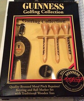 Guinness Golfing  collection tee set marker pitch repairer hand made in Dublin