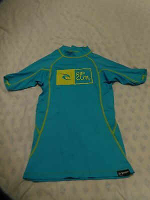 Ladies Rip Curl Turquoise uv protection T-shirt, size small