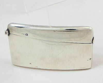 Antique Solid Sterling Silver Card Case Sheffield 1898