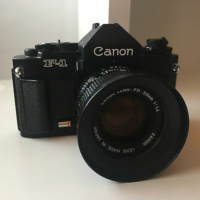 Canon New F-1 35mm SLR Camera | Lens FD 50mm 1.4 | Case | Excellent Condition