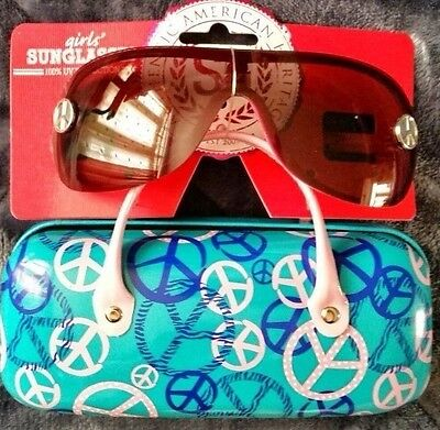 Girls SO Aviator Sunglasses with Case NWT UV Protection