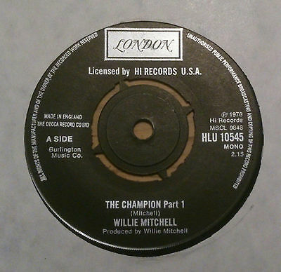 """Willie Mitchell - """"The Champion Part 1"""" Northern Soul"""