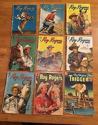 ROY ROGERS 9 BK LOT #18,19,20,21,23,30,34,77 DELL WESTERN/COWBOY Trigger #9+++1