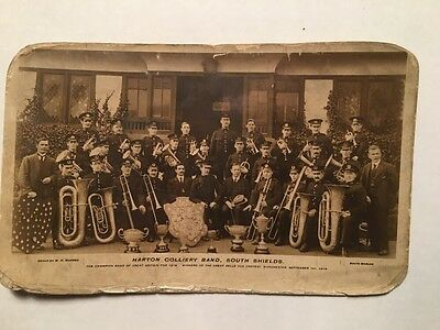 Postcard, Harton Colliery Band,South Shields 1919