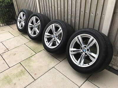 """Set Of Bmw X5 F15 Staggered 19"""" Alloy Wheels And Rft Tyres - M Double Spoke 467"""