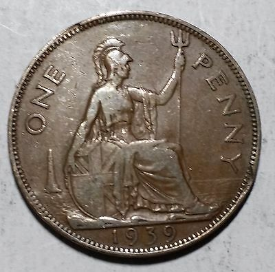 1939 One Penny Great Britain/UK Coin