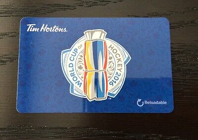 TIM HORTONS Gift Card ZERO $ BALANCE, WORLD CUP Hockey 2016 No Value Collectible