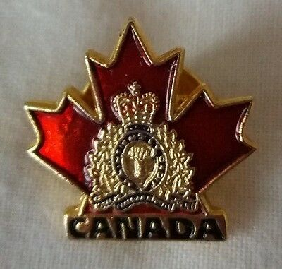 Canada RCMP Royal Canadian Mountie Police Crest Maple Leaf Pin