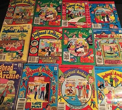 Lot of 12 Archie Comics Digest: 1980's Jughead With Archie Comic Book Collection