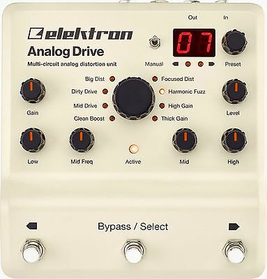 Elektron Analog Drive. Boutique Boost Overdrive Distortion Fuzz Octavia In 1