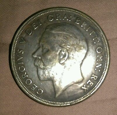 1932 WREATH CROWN BRITISH SILVER COIN FROM GEORGE V EF circulated