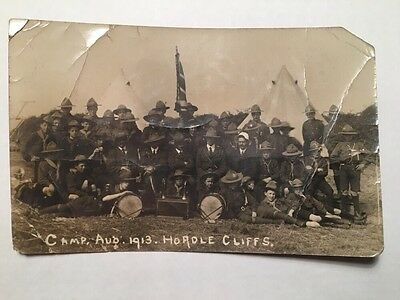 Postcard Of Scout Camp At Hordle Cliffs, Hampshire August 1913