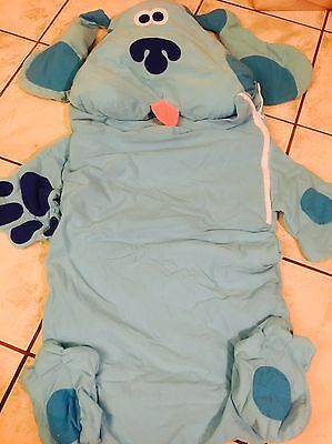 Blue's Clues Child Toddler Daycare Napping Sleeping Bag w/ Built In Pillow Blue